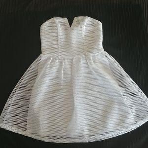 Charlotte Russe Strapless White Strapless dress